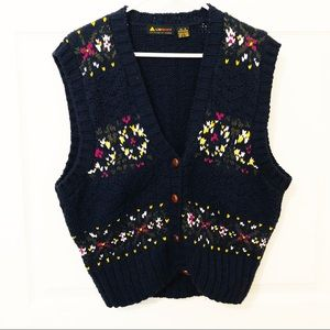 Liz Sport Thick Knitted Sweater Vest